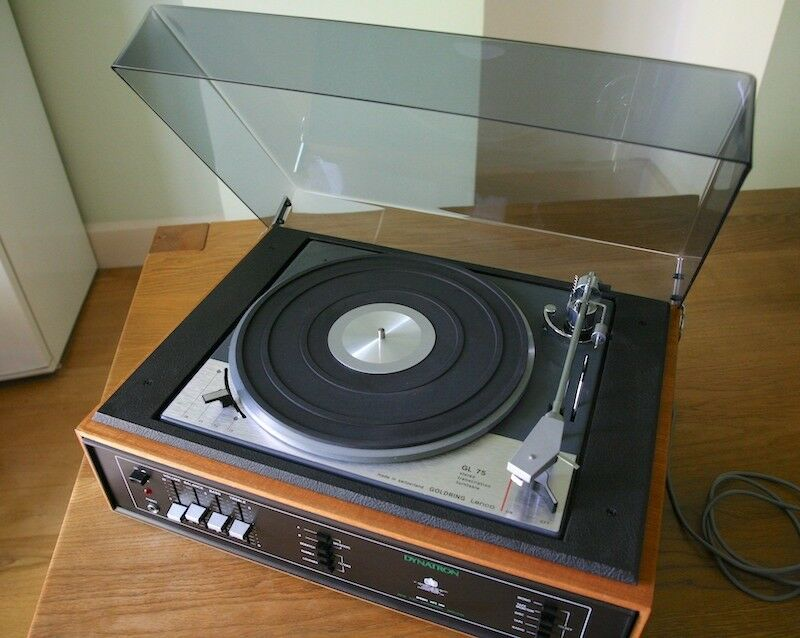 Dynatron HFC100 music system with Goldring Lenco GL75 turntable