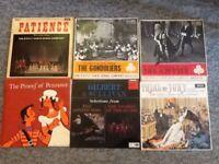 Gilbert & Sullivan assorted 19 vinyl record collection