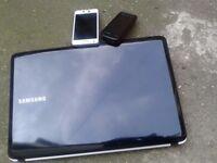 Samsung RV150 wireless webcam win7 laptop. As new. Samsung galaxy S2, Nokia Xpressmusic 5130 phone