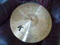 "Zildjian K2106 K series Symphonic traditional 19"" cymbal - dark Ride/Crash. As new"