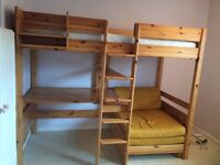 STOMPA High Sleeper Bed with Desk & Sofa Bed
