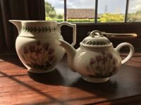 Portmeirion collection jug and teapot
