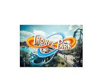 2x Thrope park tickets £25