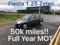 50k miles! £999 2006 Fiesta Zetec 1.25l* like clio punto yaris micra corsa c1 aygo 107 getz polo