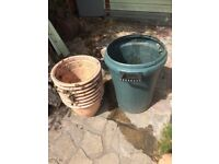 Plant pots & water butts