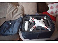 Dji Phantom 3 Drone, With carry case. 320 ONO