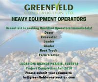 Qualified Heavy Equipment Operators - Grande Prairie
