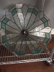 Hand Made Stained Glass ceiling light