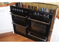 Leisure RCM 10CRS black cooker / stove - clean and in full working order