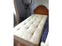 Two *FREE* single beds (inc. mattresses) with wooden head boards