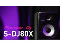 Pioneer S-DJ80X Pair Active Studio Monitors (Speakers) + Full Warranty 2019