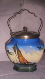 Nesishi L and Sons Hanley . Rare Biscuit barrel.