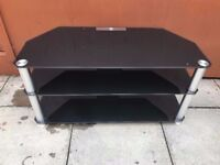 black glass tv stand (perfect for 26 to 42 inches size tv)