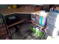 Lovely large office or home desk with two shelves