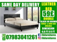 SPECIAL OFFER small double single kingsize Leather STORAGE Bedding