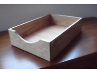 RETRO WOODEN DESK TIDY FILING TRAY RETAIL DISPLAY