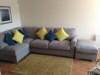 Corner Sofa and Foot stool.