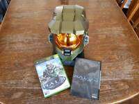 Halo 3 Legendary Master Chief Helmet with Halo Essentials 2 discs and Halo Combat Evolved 1 disc