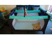 Hauck winnie the pooh travel cot/ playpen with bag