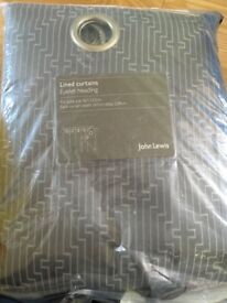 John lewis lined eyelet curtains grey 167cmx 228cm