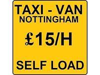 remowal,man and van only 15 p/h self load