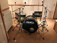 "Mapex Orion Series Seaburst 4 pc drum kit - w/ rare 22"" base drum"
