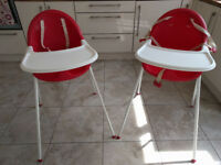 MOTHERCARE MYHI HIGH CHAIR - TWO HIGH CHAIRS AVAILABLE