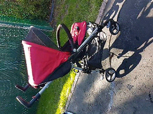 Peg Perego Arcore Si Stroller- red and black
