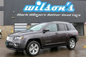 2016 Jeep Compass HIGH ALTITUDE! 4WD! LEATHER! SUNROOF! $75.WK,