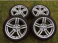 4 x 19 Original BMW 351M alloy wheels and tires + F10 + M - Sport + SPLENDIDA SERIE +5 + PX