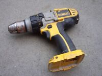 DeWalt 18V Cordless Drill Driver - NO BATTERY - NO CHARGER - Full Working Order