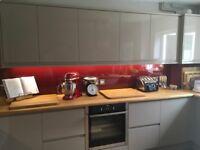 Kitchen splashback brand new