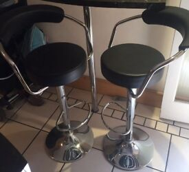 2 adjustable Faux Leather Bar Stools
