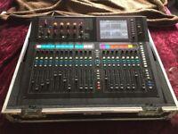Allen & Heath GLD-80 Digital Mixing Desk with flight case