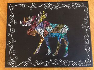 Original abstract moose painting