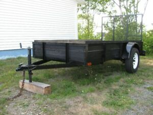 LIKE NEW FACTORY UTILITY/LANDSCAPE 5' x 10' TRAILER WITH RAMP
