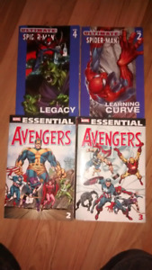 Avengers and Spiderman books
