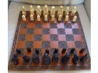 Vintage Lewis Chess Men Set and Board
