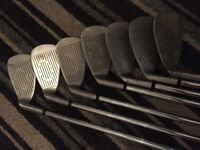 Golf clubs various sizes/makes