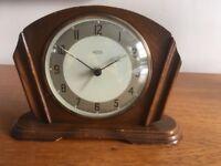 Original 1930's Bakelite and wood mantle/alarm clock