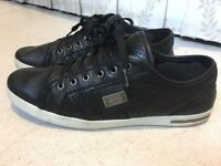 Luxurious D&G Dolce&Gabbana Sport mens black leather trainers, 43 / uk9, rrp €400