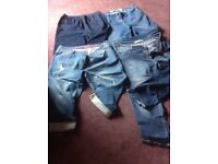 Bargain jeans bundle size 22 jeans 1 cropped jean and 1 cropped jeggings with elasticated waist