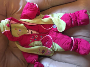 EUC Deux par Deux one piece snow suit 6 month...oto
