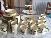 Bone china dinner set and extras