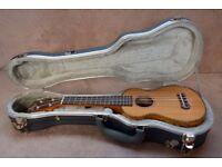 Ohana SK-50WG soprano ukulele - cedar and willow - with a TGI solid case