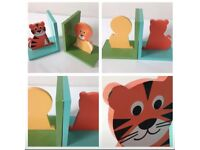 """John Lewis """"little home"""" jungle wall stickers and bookends"""