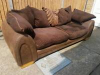 2 seater brown sofa free delivery