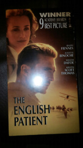 New vhs the english patient mint condition unopened