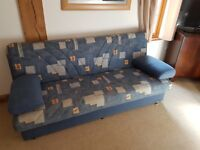 Blue Pattern Sofa Bed