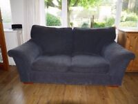 2 corded blue M&S sofas - £15